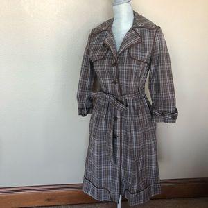 BCBG plaid coat size S